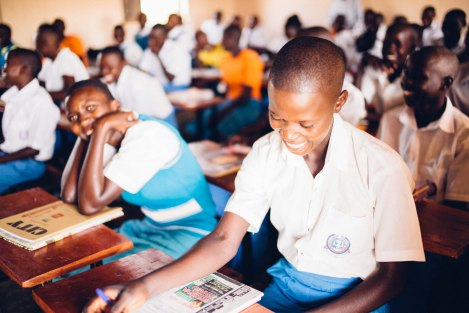 Students at the Peace Gospel rural high school are provided a quality education without having to travel to urban areas.