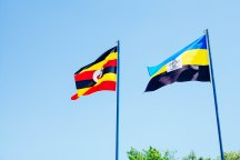 Uganda flag and Mayuge District flag
