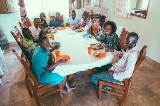 New dining room in the orphan home. They're so happy with the new home; the previous facility was extremely primitive