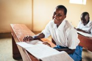 The students at the high school are just starting to come back; it's start of the school year in Uganda